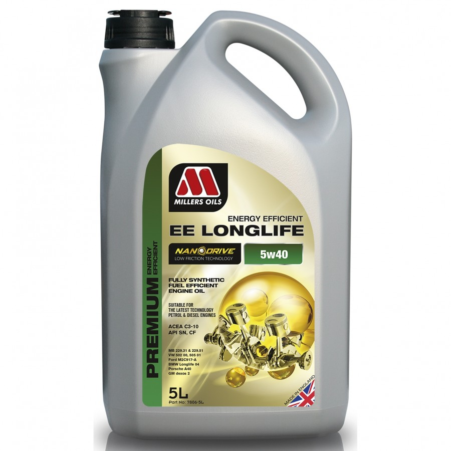 Millers Oils EE Longlife 5W-40 5Litri