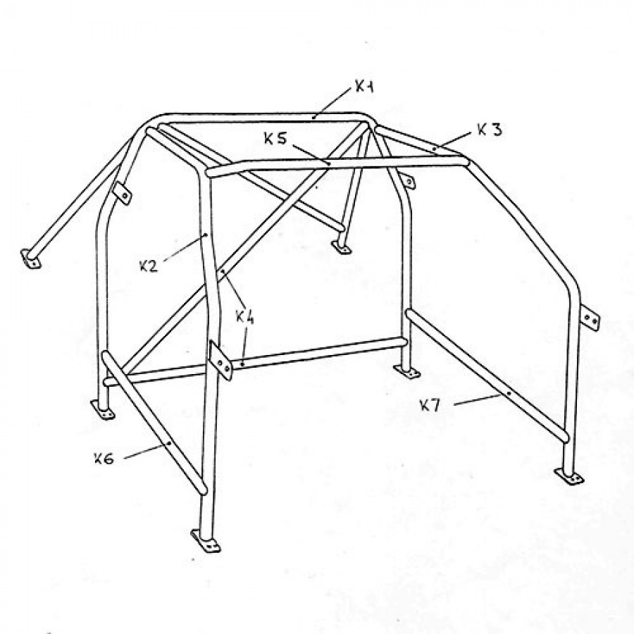 sparco rollcage for bmw e30 2 doors